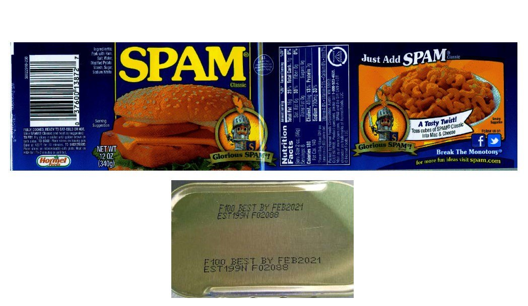 Recall of Spam and luncheon product due to possible metal