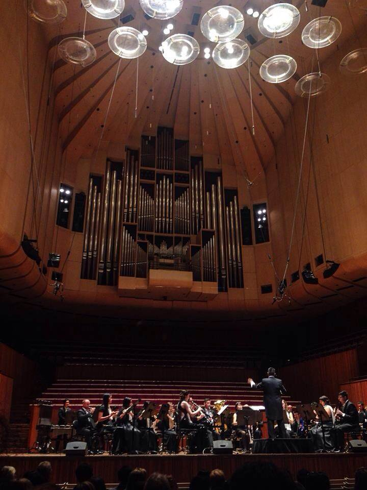 Guam Territorial Band performing at the Sydney Opera House