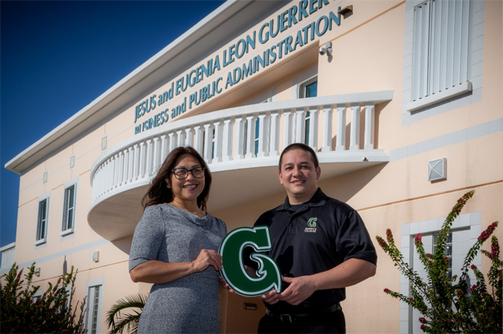Annette T. Santos, dean of the University of Guam's School of Business & Public Administration; and John J. Rivera, assistant professor of public administration and Professional Master of Business Administration program chairman at UOG.