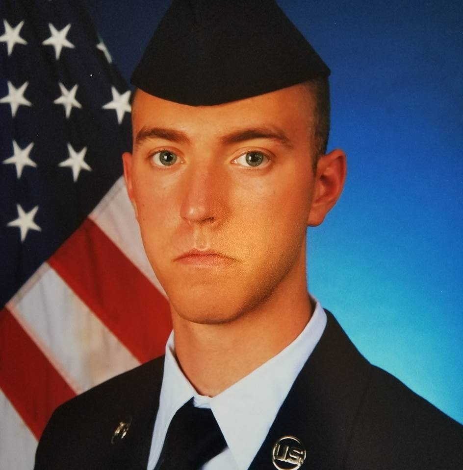 Airman 1st Class Bradley Hale, shown here, was found dead on Andersen Air Force Base last March. Fellow Airman Isaiah Edwards faces a court-martial in Lousiana for Hale's murder.