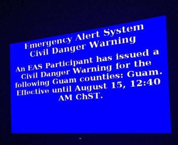 Overnight danger alert broadcast accidentally - KUAM com-KUAM News