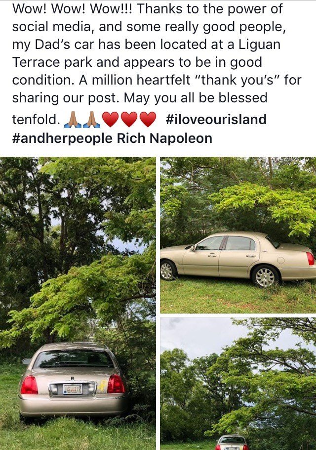Families Turn To Social Media With >> Families Turn To Social Media After Car Thefts Kuam Com